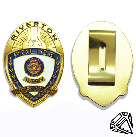 Badge Front:Back
