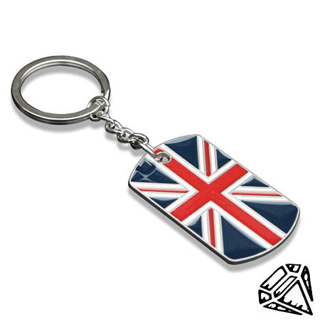 UK Flag Keychain