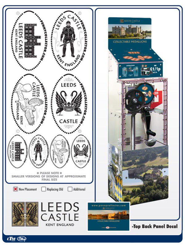 Leed Castle penny machine